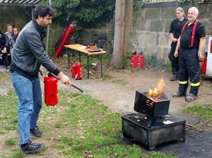 Brandschutzschulung: Löschübung